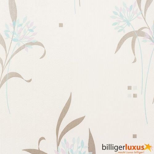 Marburg Vliestapete SUPROFIL 52825 Blumen weiß grau