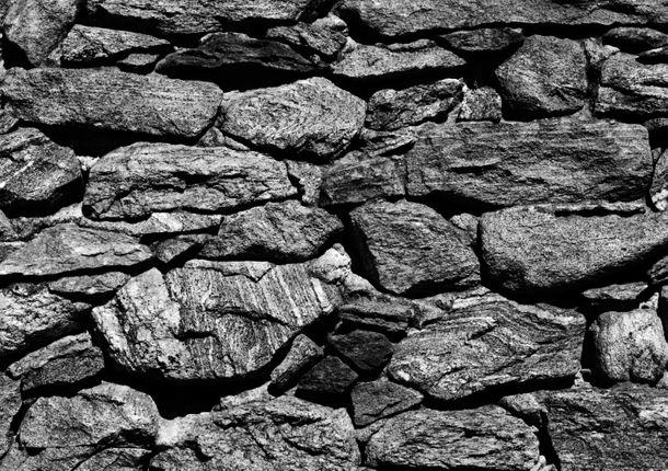 Fototapete Steinwand Canyon Berge grau 360 cm x 254 cm online kaufen