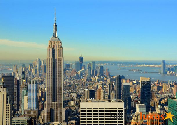 Wall mural wallpaper New York skyline Empire State Building photo 360 cm x 254 cm / 3.94 yd x 2.78 yd online kaufen