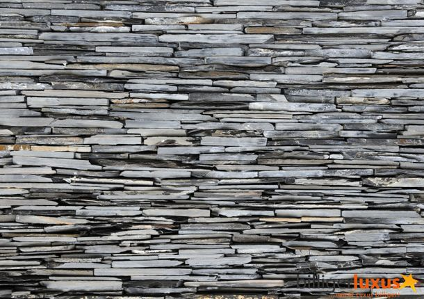 Wall mural wallpaper stone wall stones grey photo 360 cm x 254 cm / 3.94 yd x 2.78 yd online kaufen