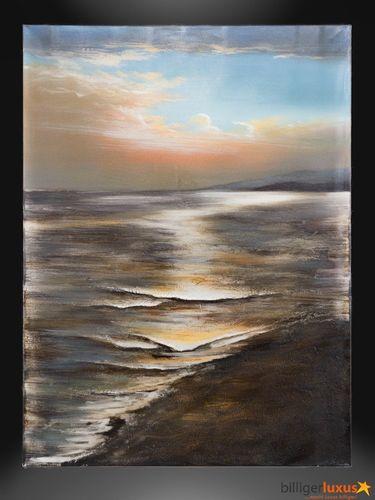 Original Ölgemälde Leinwand Meer Küste 122x91cm Wandbild online kaufen