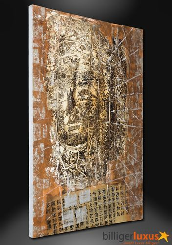 Original oil painting mural buddha picture 150x100 cm / 59.1 '' x 39.37 '' canvas buddha 3D optic online kaufen