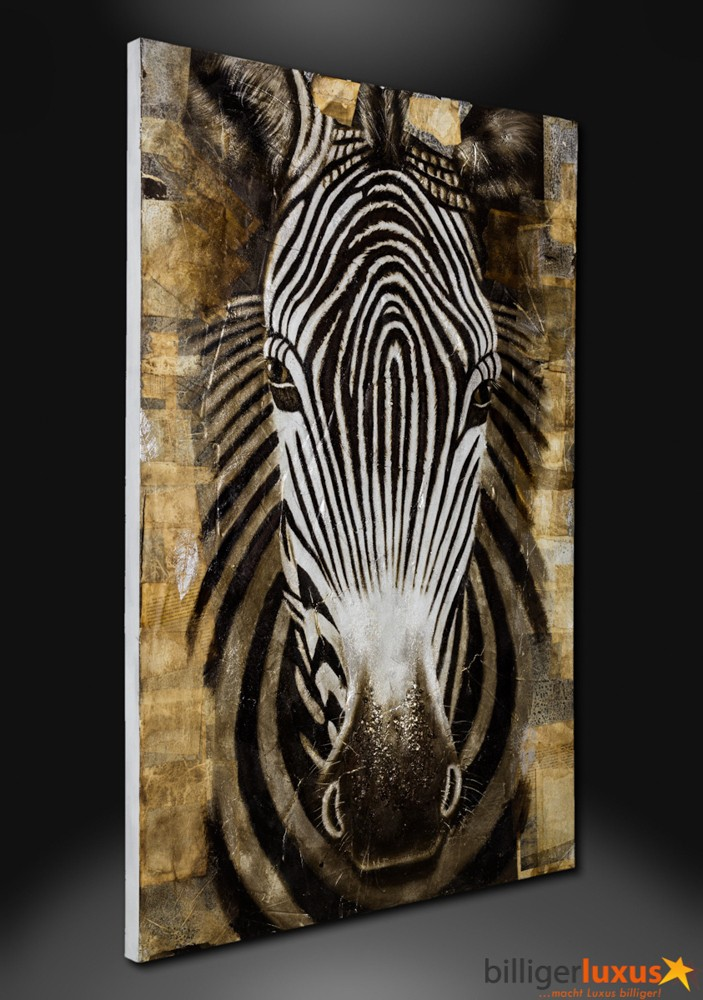 original lgem lde leinwand zebra afrika gem lde 150x100. Black Bedroom Furniture Sets. Home Design Ideas
