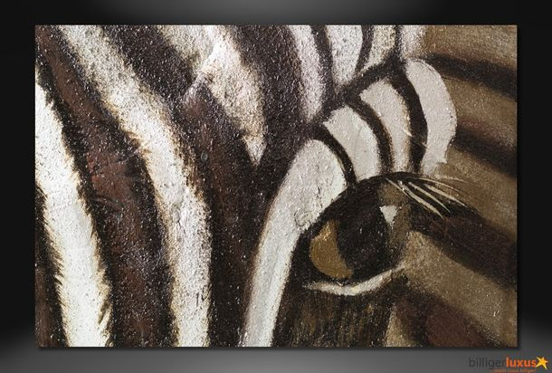 Original oil painting canvas zebra Africa picture 150x100 cm / 59.1 '' x 39.37 '' mural Africa online kaufen