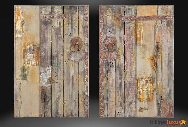 Ölgemälde Holzoptik 120x80 cm Asia Pforte Asien online kaufen