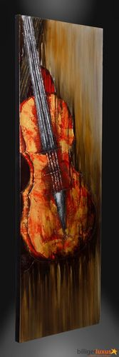 Original oil painting canvas violin music fiddle picture 152x51 cm / 59.84 '' x 20.1 ''mural online kaufen