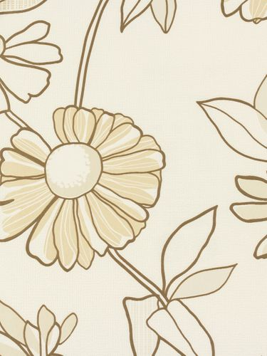 Rasch non-woven wallpaper Fresh Up flowers cream  brown 497410 online kaufen