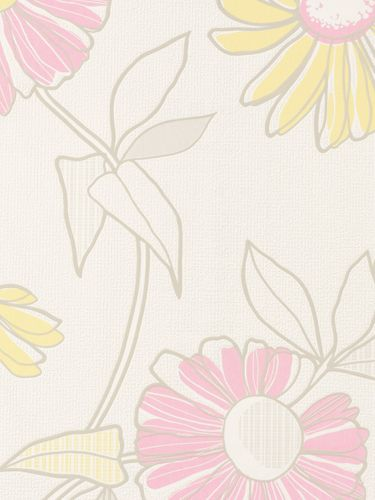 Rasch non-woven wallpaper Fresh Up flowers white rose 497441 online kaufen