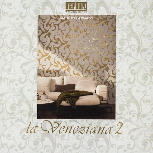 Wallpaper Marburg La Veneziana 2 non-woven wallpaper 53149 retro brown gold online kaufen