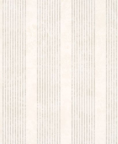 Marburg non-woven wallpaper 53107 stripes white cream