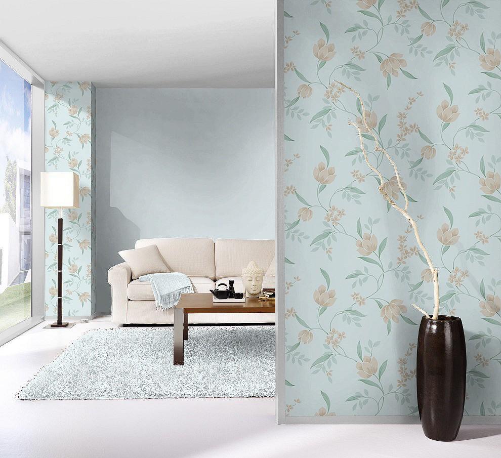 rasch tapeten tendresse 792188 uni hellblau. Black Bedroom Furniture Sets. Home Design Ideas