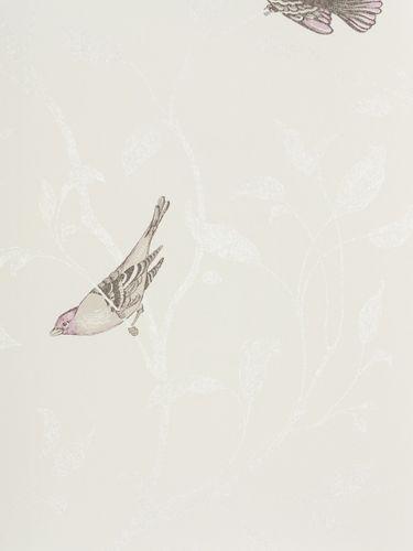 Wallpaper Rasch Tendresse non-woven wallpaper 798944 bird cream grey  online kaufen