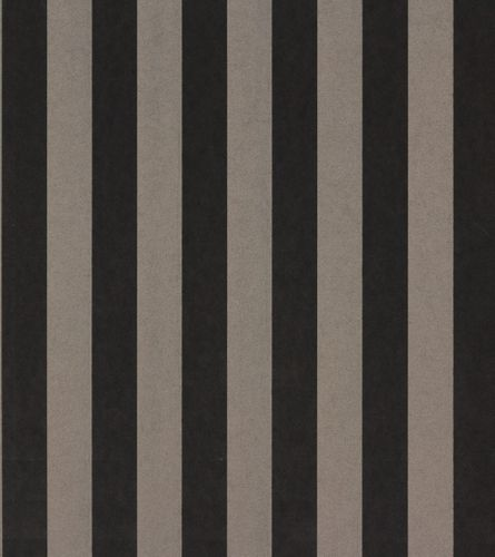 Wallpaper Rasch Textil Strictly Stripes non-woven wallpaper 221557 stripes brown black