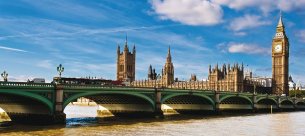 Fototapete Big Ben Bridge London blau beige 90x202cm online kaufen