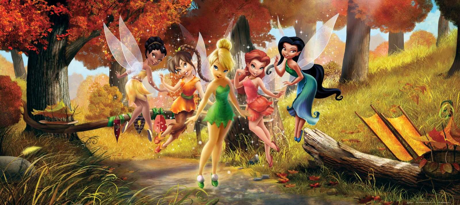 Photowallpaper Disney Tinkerbell 202x90cm 2 21ydx35 43