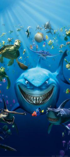 Fototapete Tapete Disney Findet Nemo Bruce Hammer Hart Marlin Foto 90 x 202 cm