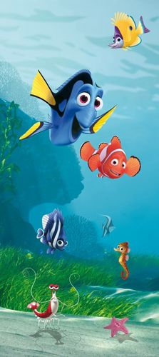 "Wall mural wallpaper Disney Finding Nemo Marlin Dorie photo 90 cm x 202 cm / 35.43"" x 2.21 yd online kaufen"