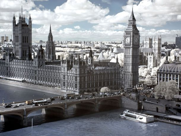 Wall mural wallpaper Big Ben London Temse photo 360 cm x 270 cm / 3.94 yd x 2.95 yd online kaufen
