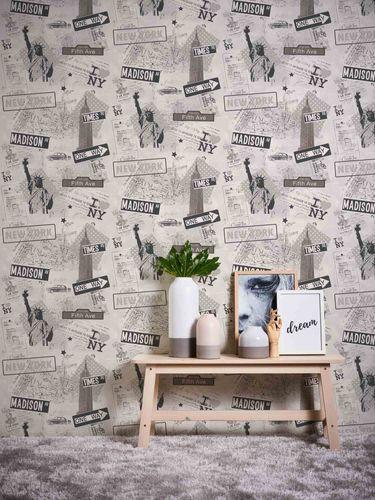 Kids Wallpaper New York Streets grey Metallic 93625-1 online kaufen