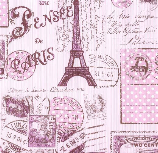 Kids Wallpaper Collage New York London rose brown 93630-2 online kaufen