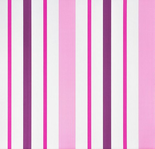 Kids Wallpaper Striped Grooves white pink 8983-19