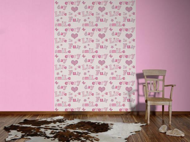 Kids wallpaper uni Boys & Girls rose 8981-11 online kaufen