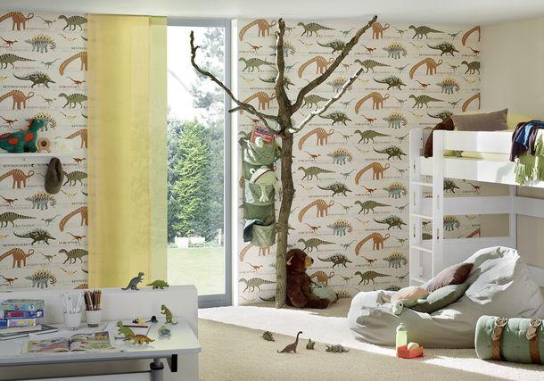 Kindertapete Dinos Boys & Girls beige grün 93633-1 online kaufen