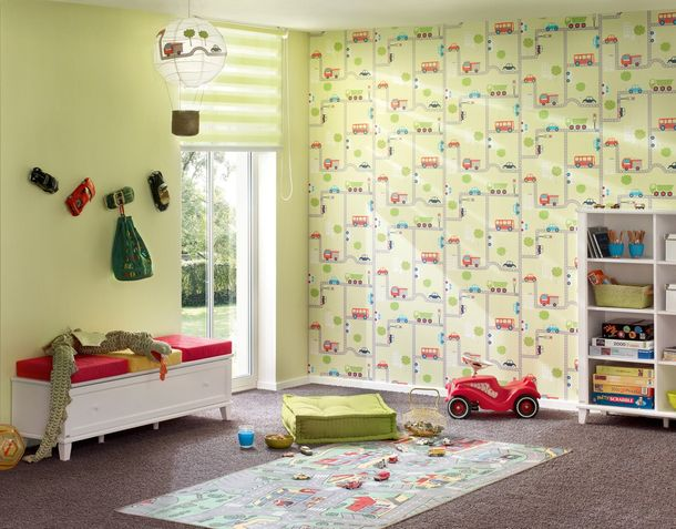 Kids wallpaper uni Boys & Girls green 9087-73 online kaufen