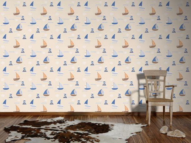 Kids wallpaper child Boys & Girls beige 93554-8 online kaufen