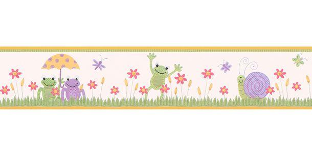 Wallpaper Border Kids Frog colourful self-adhesive 9037-16 online kaufen