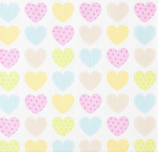 Kids wallpaper hearts Boys & Girls white 93566-2 online kaufen