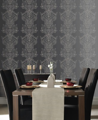 Casa Nova Wallpaper Graham & Brown non-woven wallpaper 20-452 20452 baroque modern black beige online kaufen