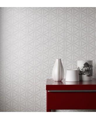 Casa Nova Wallpaper Graham & Brown non-woven wallpaper 20-437 20437 grafic modern white cream online kaufen