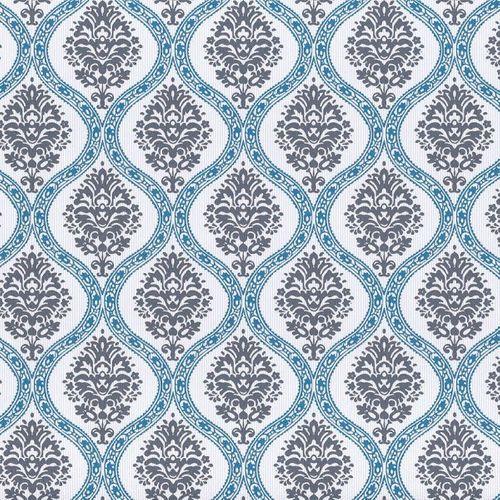 Shabby chic tapeten g nstig online kaufen i billigerluxus for Tapete ornamente blau