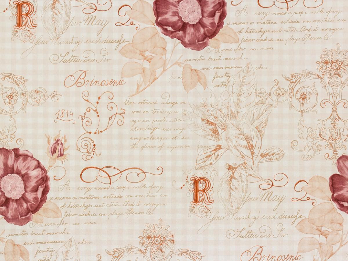 tapete rasch textil rosen beige vintage diary 255088. Black Bedroom Furniture Sets. Home Design Ideas