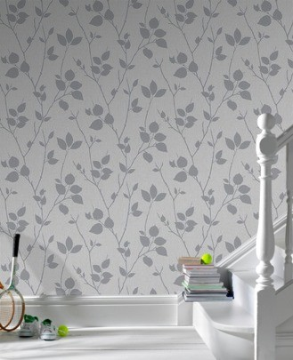 Graham & Brown Superfresco non-woven wallpaper Element 31-872 31872 leaves grey online kaufen
