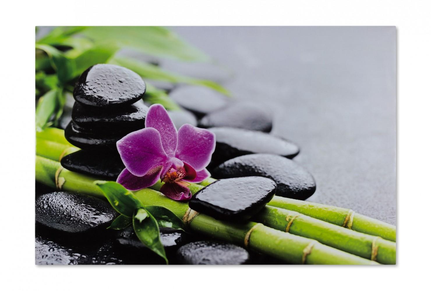 keilrahmen leinwand bild wandbild 60x90 wellness steine. Black Bedroom Furniture Sets. Home Design Ideas