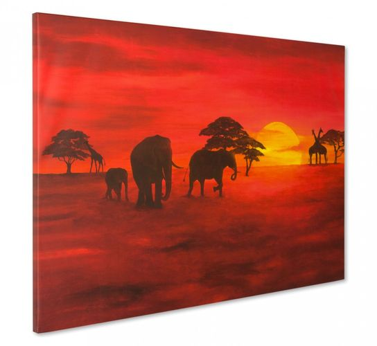 Canvas print Picture 60x90 sahara desert camals sand
