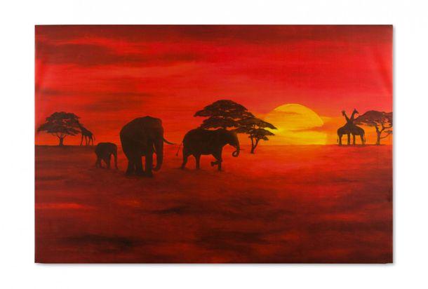 Canvas print Picture 60x90 sahara desert camals sand online kaufen
