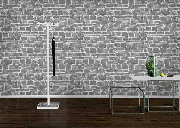 Stone wallpaper Rasch 265620 - new - stone wall grey online kaufen