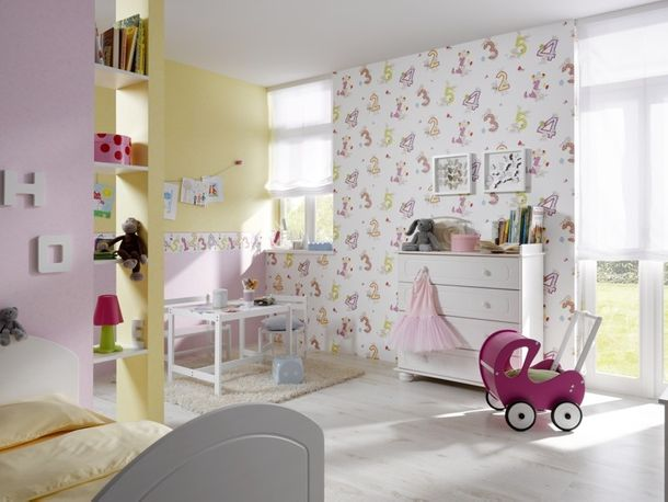 Rasch kids wallpaper Piccolo border 271805 numbers white colorful online kaufen