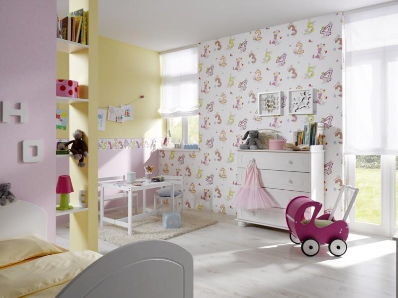 Rasch kids wallpaper piccolo border 271805 numbers white colorful - Verdunklungsstoff kinderzimmer ...