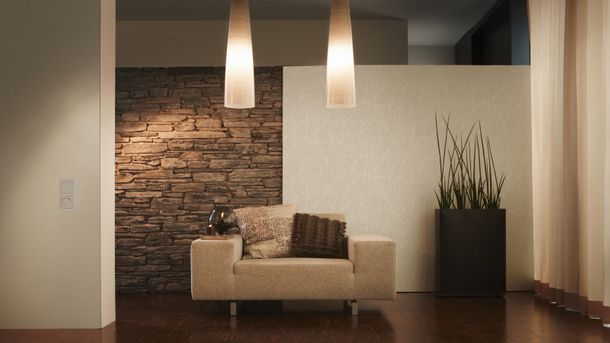 Non-Woven Wallpaper Mottled cream-grey livingwalls 2930-15 online kaufen