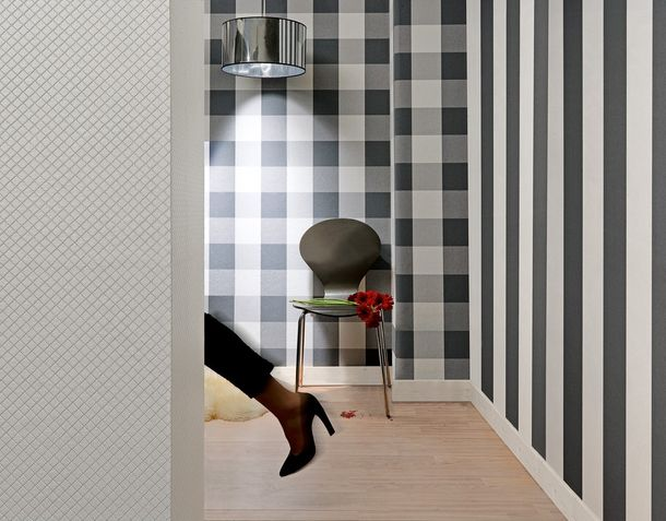 Wallpaper A.S. Création Elegance 2 non-woven 1790-50 179050 stripes anthracite white  online kaufen