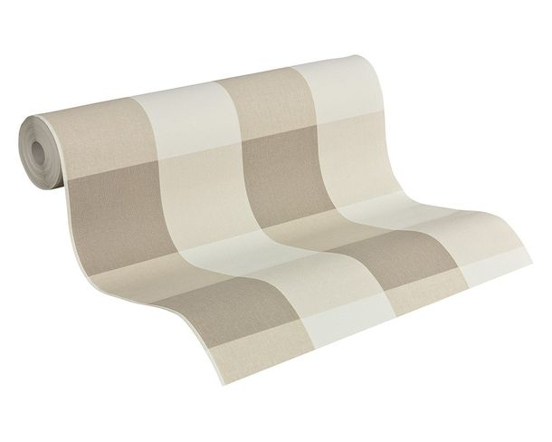 Vliestapete Kariert beige creme AS Creation 2063-36 online kaufen