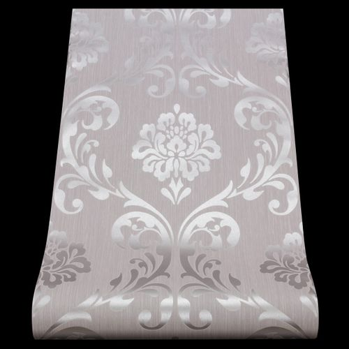 Wallpaper ORNAMENT non-woven wallpaper P+S 13110-50 1311050 baroque grey silver online kaufen