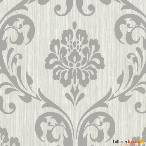 Wallpaper ORNAMENT non-woven wallpaper P+S 13110-50 1311050 baroque grey silver