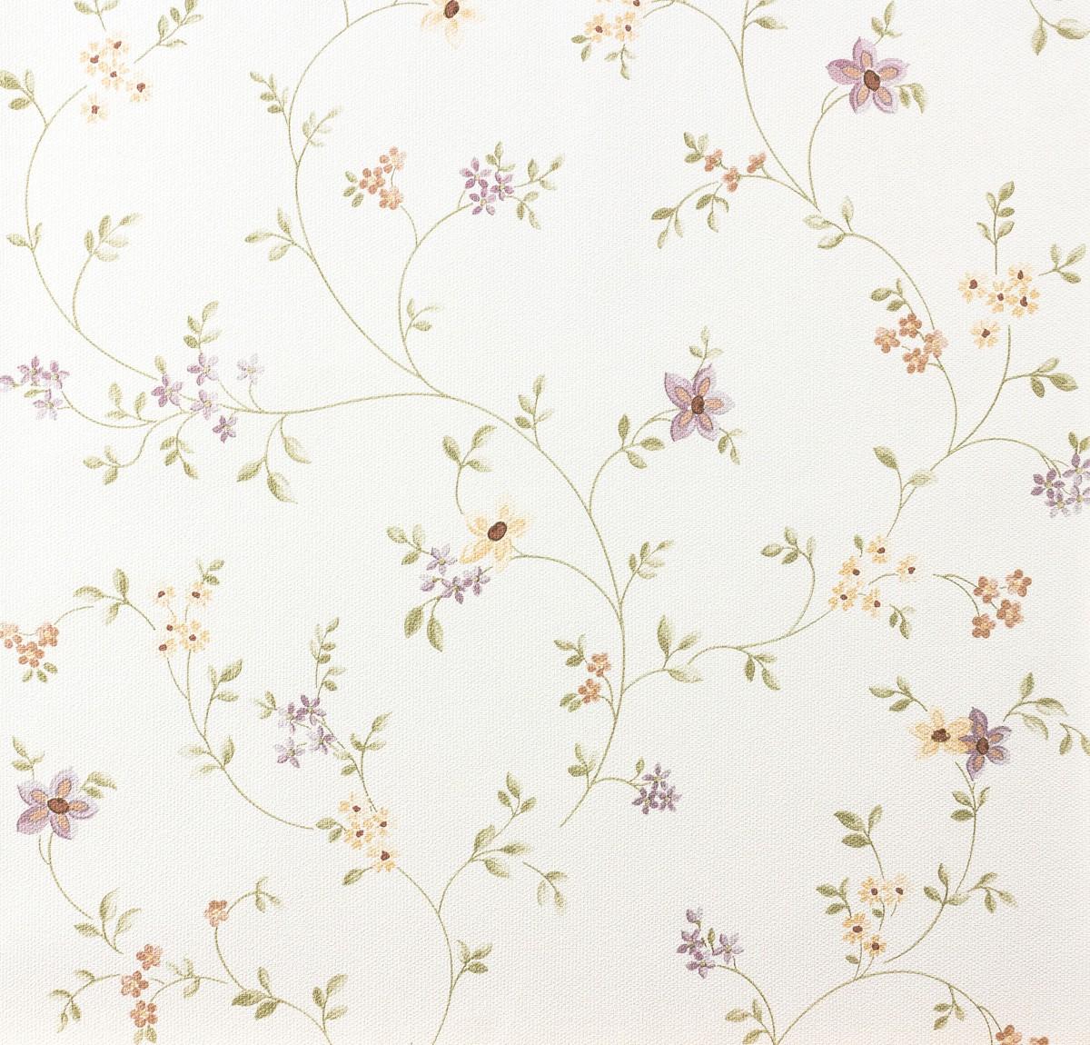landhaus tapete fleuri pastel a s 93770 1 937701 blumenranke violett gr n wei. Black Bedroom Furniture Sets. Home Design Ideas