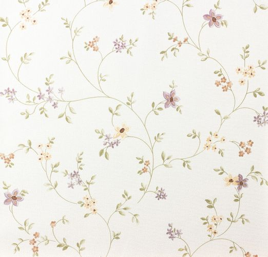 Cottage style wallpaper Fleuri Pastel A.S. 93770-1 937701 vines violet green white