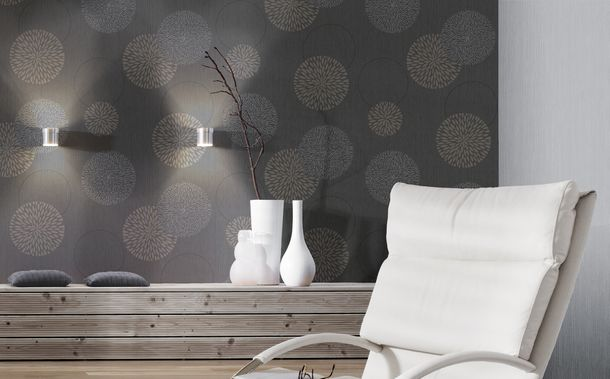 Wallpaper grey taupe flower Spot AS Creation 93791-1 online kaufen